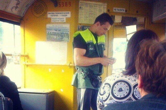 Снимки красивого киевского кондуктора взорвали соцсети - фото №1