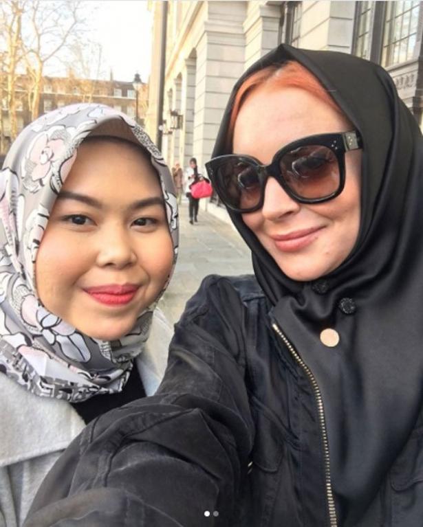 Линдси Лохан в хиджабе
