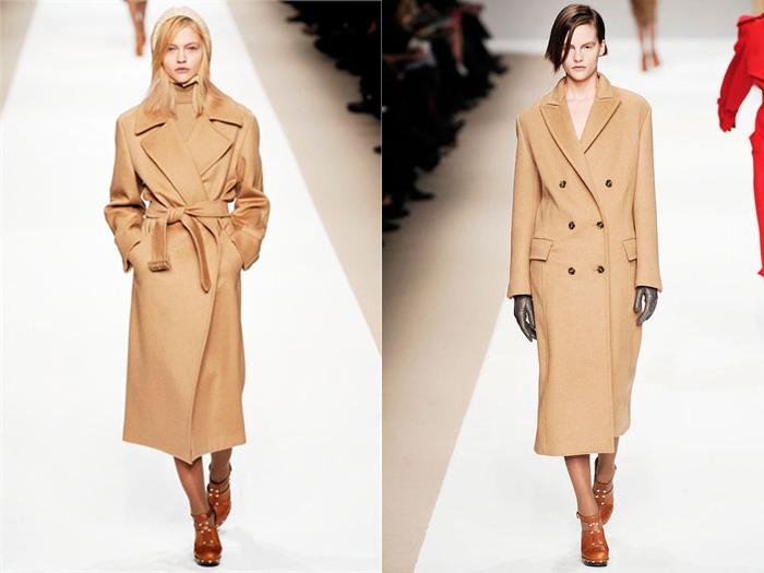 20 пальто цвета camel  в магазинах - фото №1
