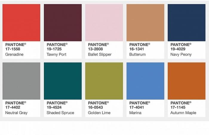 модные цвета осени 2017 Pantone