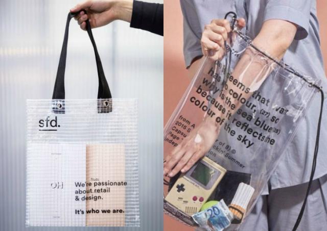 Модный тренд 2018 — пластиковая прозрачная сумка - фото №1