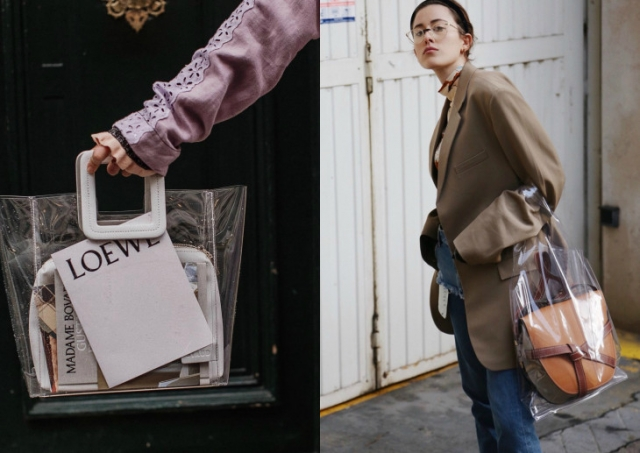Модный тренд 2018 — пластиковая прозрачная сумка - фото №4