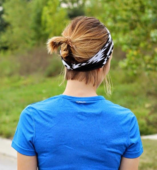 повязка на волосы прическа