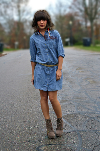Топ 20 модных весенних платьев из денима - фото №8