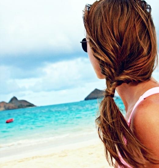прическа на пляж