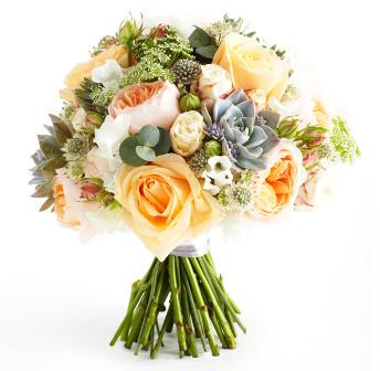 Стильные свадебные букеты: тренды 2014 года - фото №2