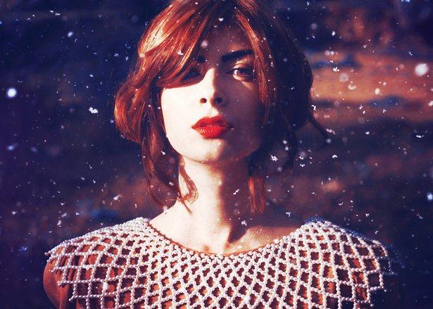 зимний макияж губ