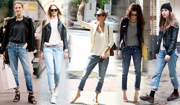 Как и с чем носить джинсы-бойфренды - фото №4