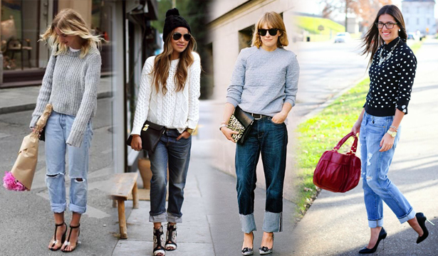 Как и с чем носить джинсы-бойфренды - фото №3