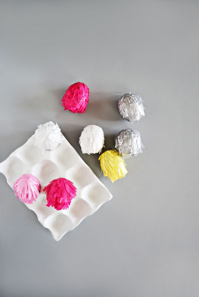 Поделка к Пасхе из яиц: конфети