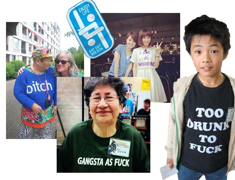 надписи на английском на одежде в Китае фото