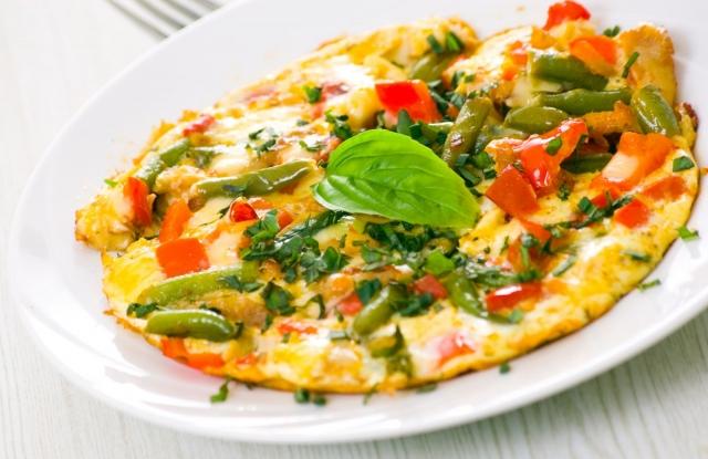 омлет из овощей