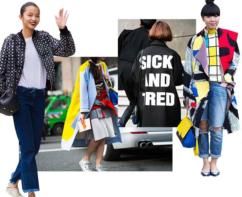 street style и мода в Китае и Гонгконге