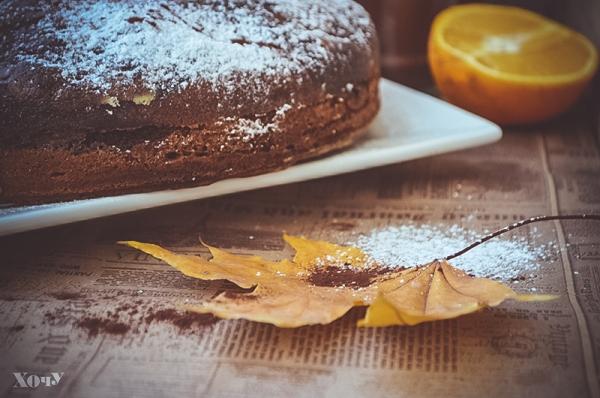 шоколадно-тыквенный кекс