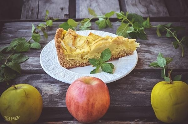 рецепт овсяного пирога с яблоками