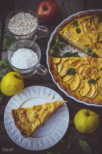 овсяный пирог с яблоками как готовить фото