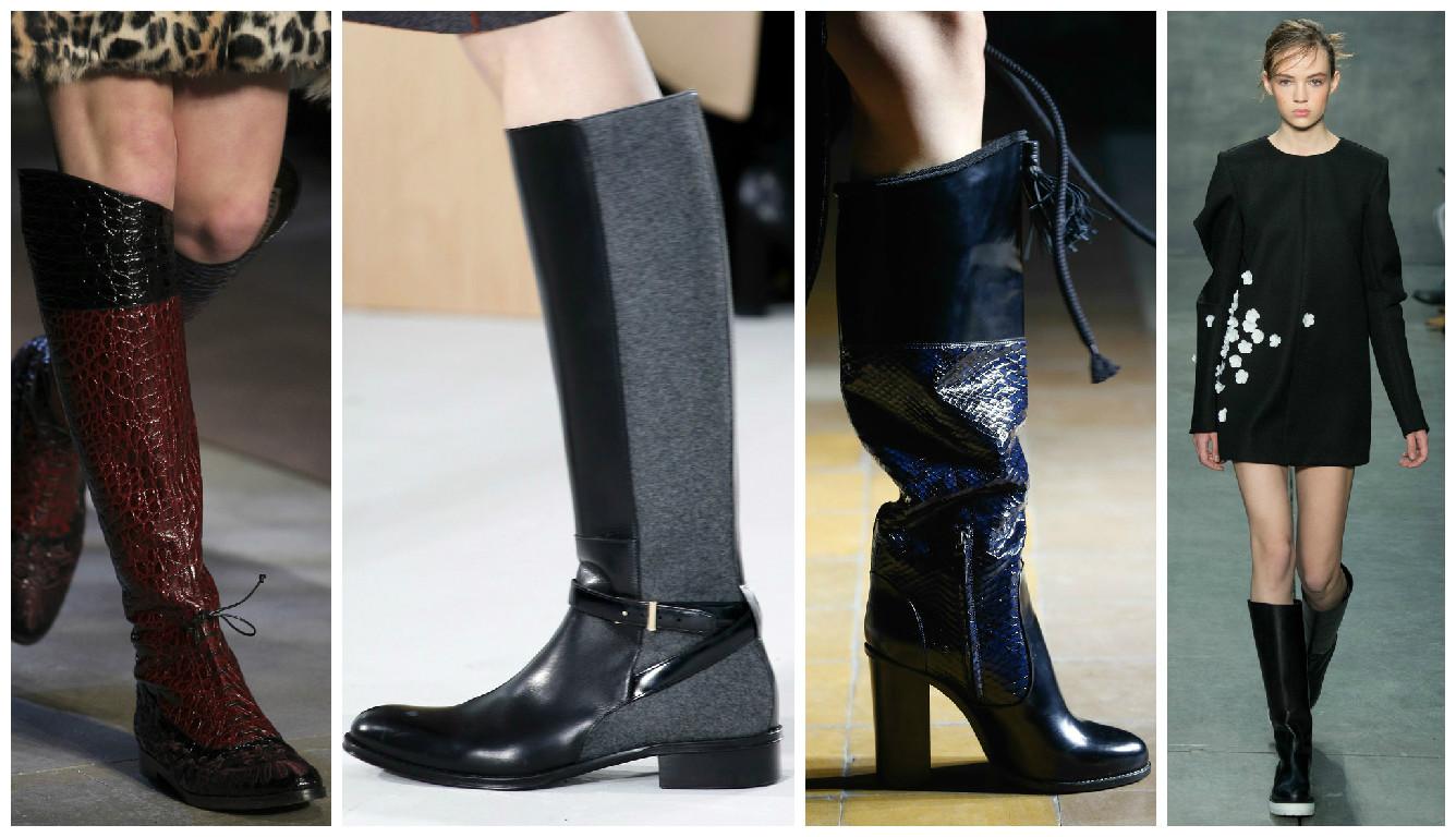 Сапоги казаки 2015 - примеры обуви