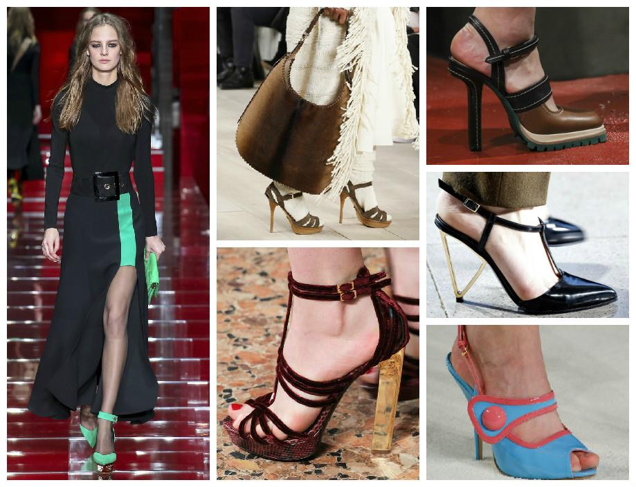 Модная обувь на осень 2015 модели босоножек