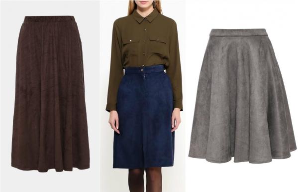 теплые зимние юбки