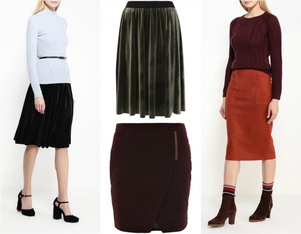 модная юбка на зиму