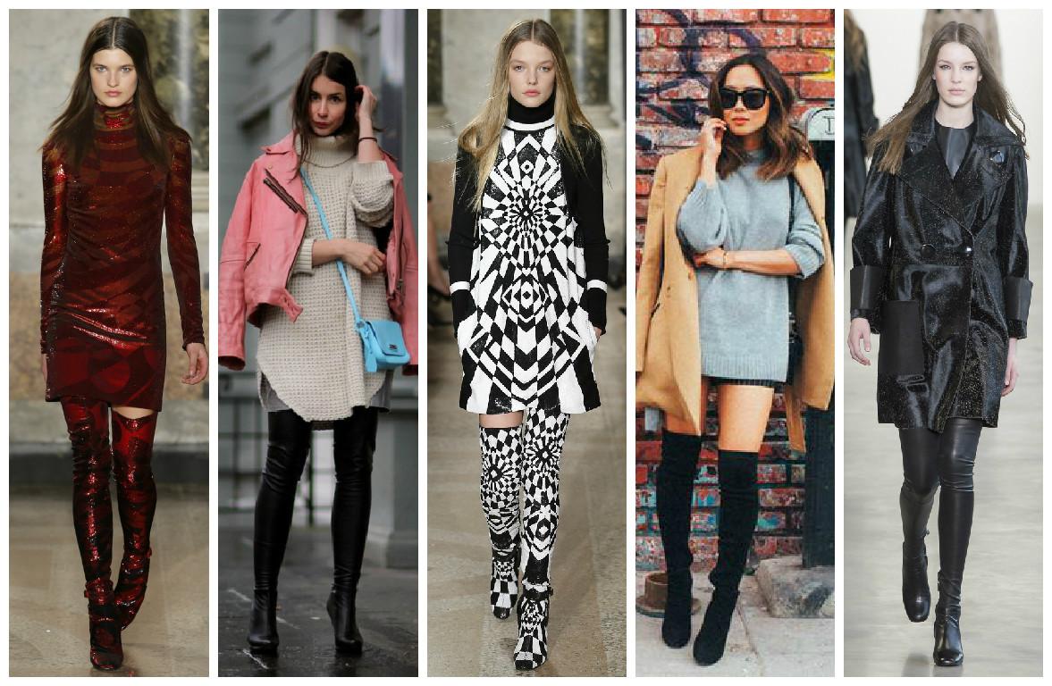 Как носить сапоги-чулки осенью 2015