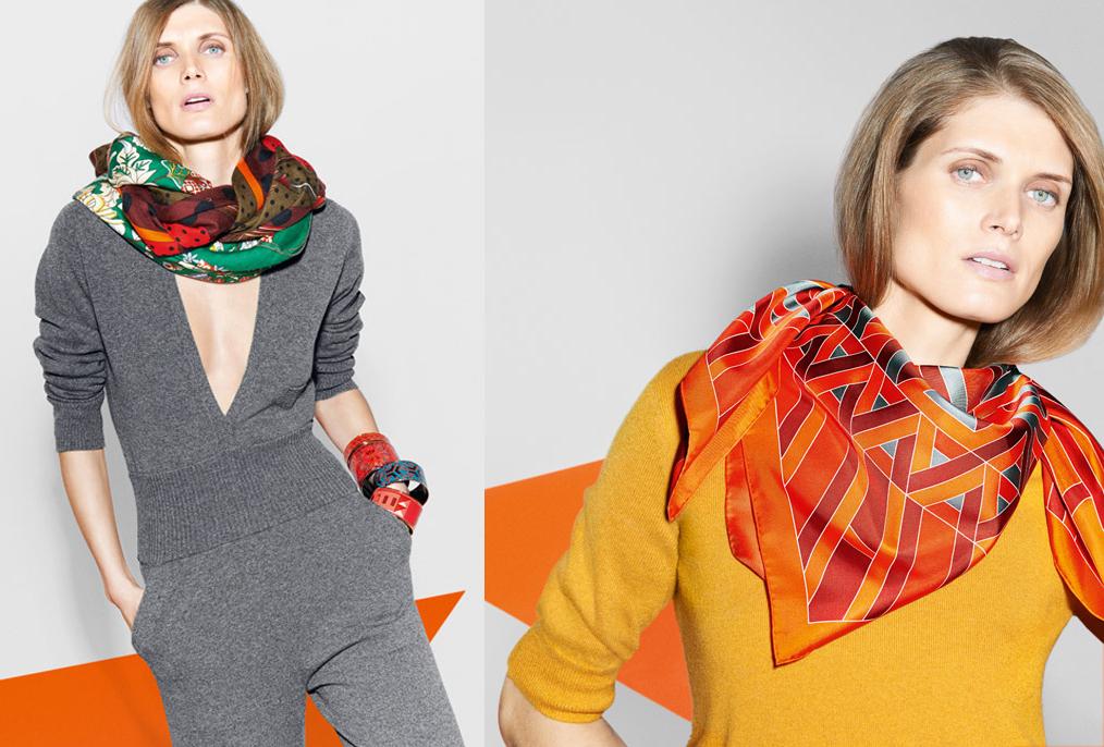 Шелковые платки – как носить? - фото №8
