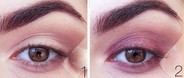 Как сделать цветные smoky eyes: пошаговый урок винного макияжа глаз - фото №2