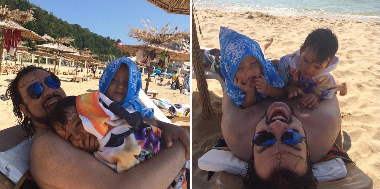 Пляжный отдых Киркорова с детьми
