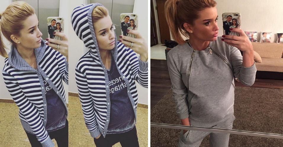 Бородина показала беременный живот