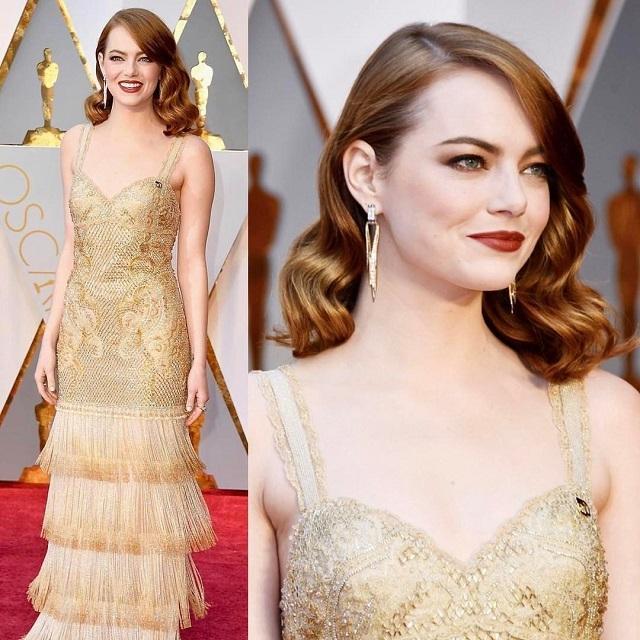 Оскар-2017: главная виновница торжества – Эмма Стоун на красной дорожке
