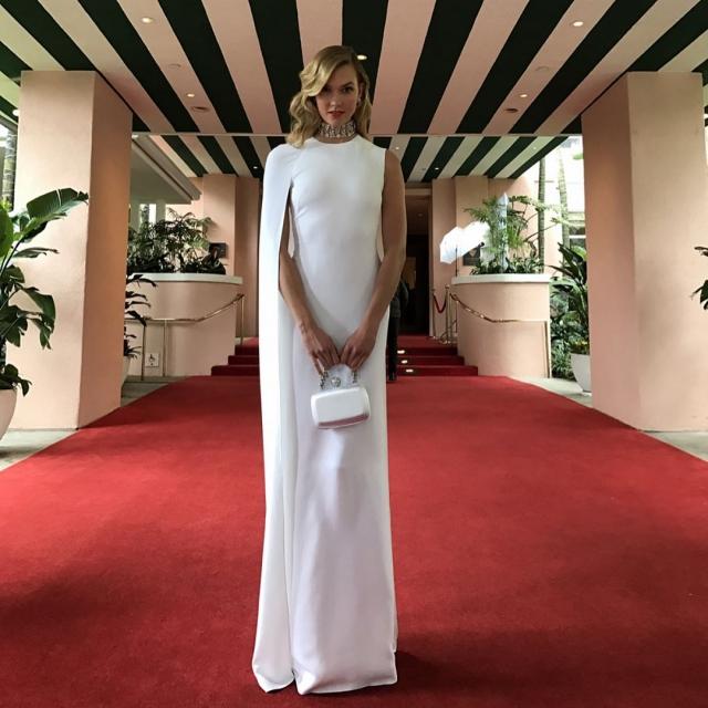 Оскар-2017: Карли Клосс на красной дорожке (фото)