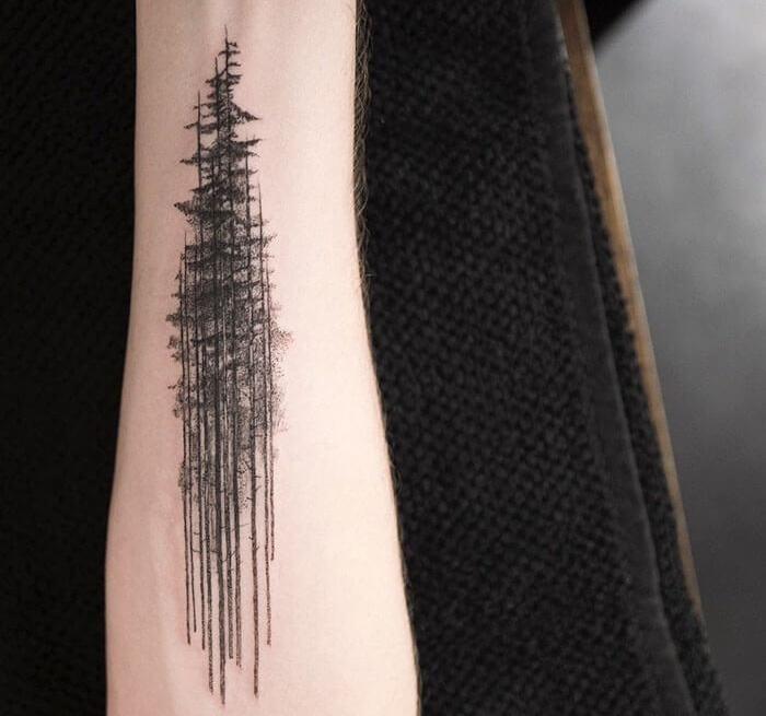 татуировка деревья