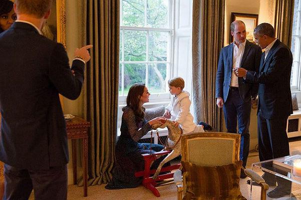 принц Джордж и Обама