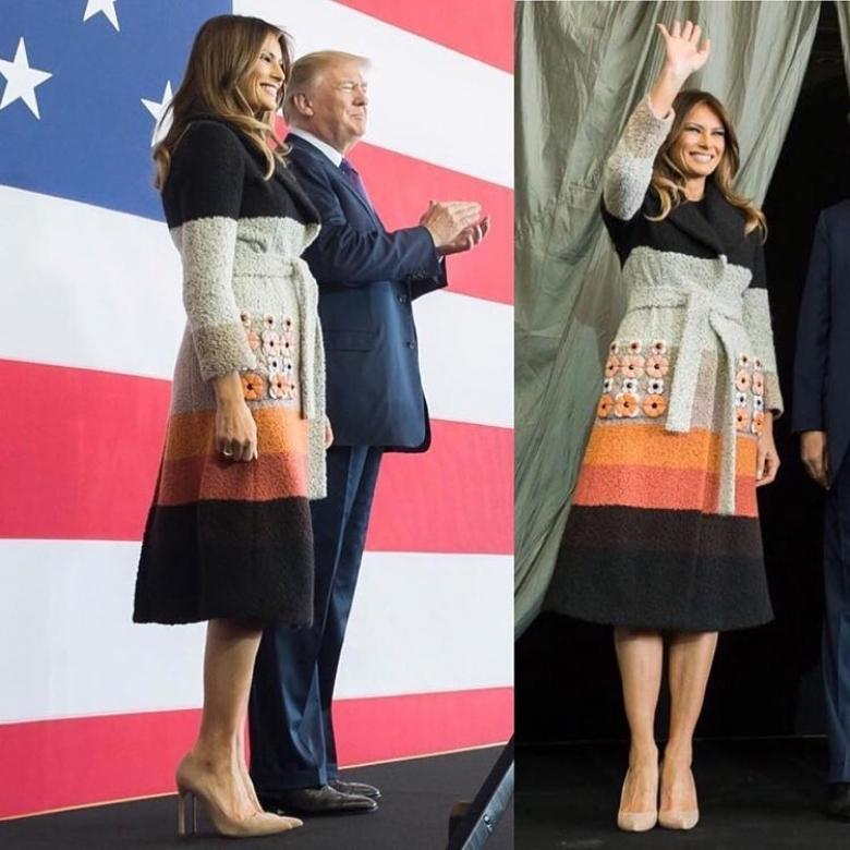 азиатский тур мелания трамп наряды фото