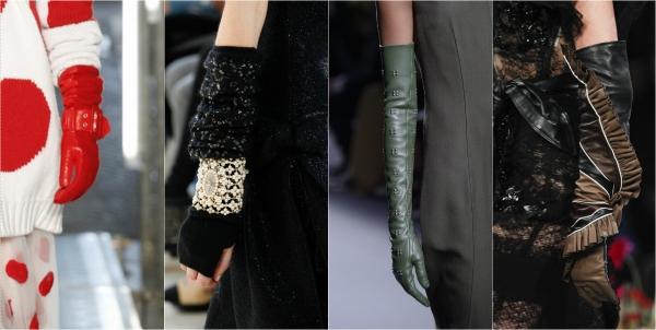 перчатки с декором фото