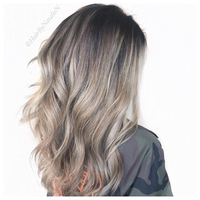 10 вариантов модного серого окрашивания волос - фото №6