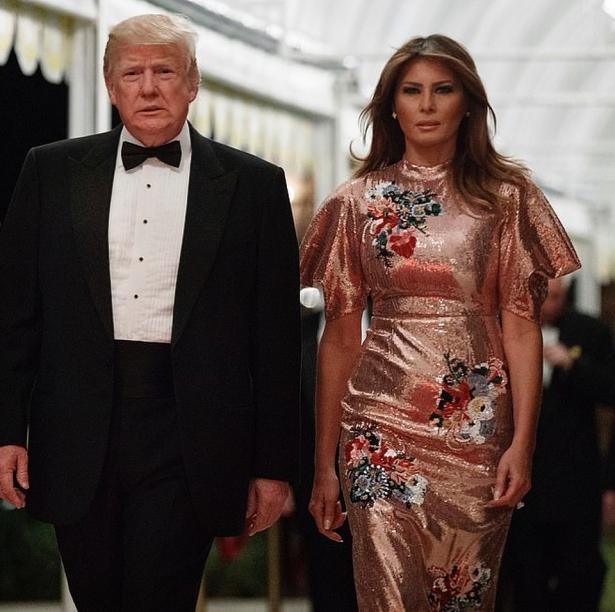 мелания и дональд трамп новый год