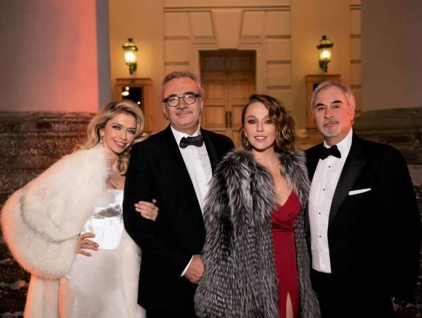Валерий Меладзе, Альбина Джанабаева, Константин Меладзе и Вера Брежнева