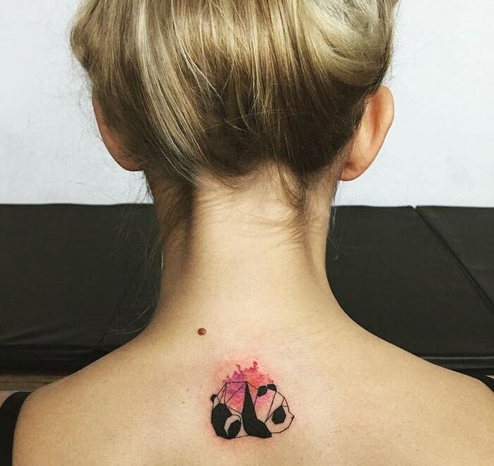 татуировка панда