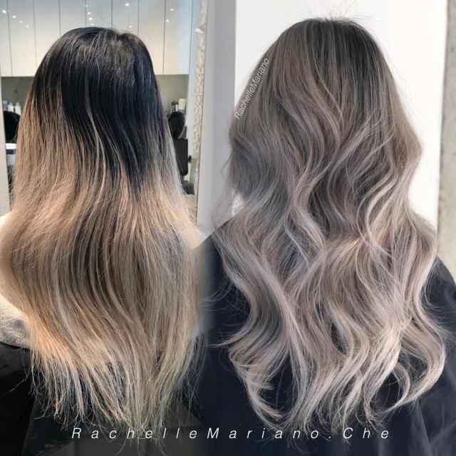 10 вариантов модного серого окрашивания волос - фото №2