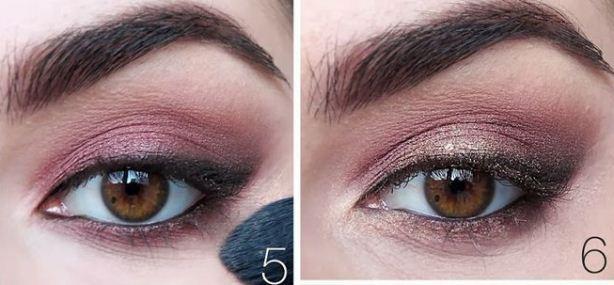 Как сделать цветные smoky eyes: пошаговый урок винного макияжа глаз - фото №4