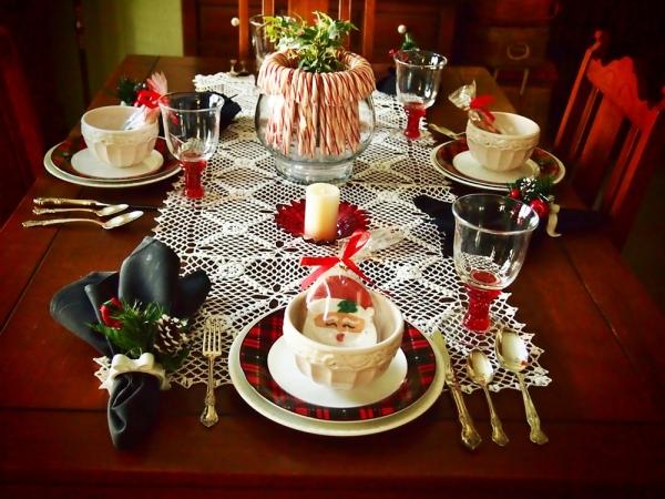 декор стола на новый год фото