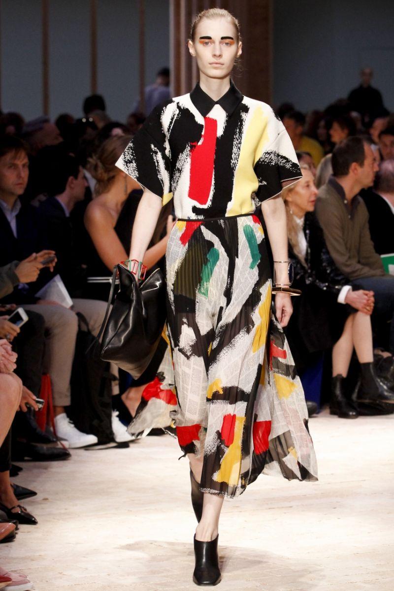 Плиссированная юбка Céline - фото №1