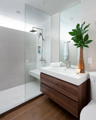 оформление стильной ванной комнаты