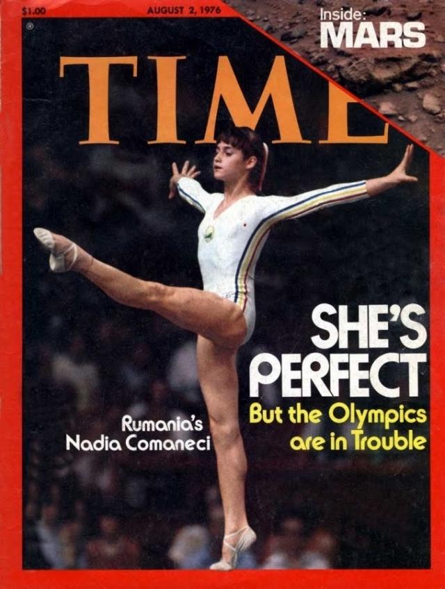 Олимпиада в Рио-де-Жанейро-2016 Надя Команечи на обложке Time 1976