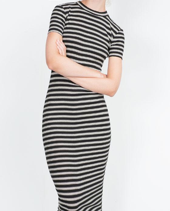 Трикотажное платье на осень 2015