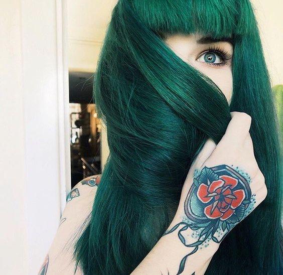 фото волосы зеленые