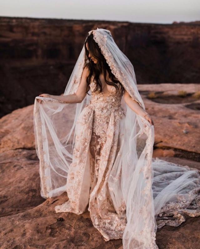 """Свадьба над каньоном: она сказала """"да"""" на высоте 122 метра - фото №4"""