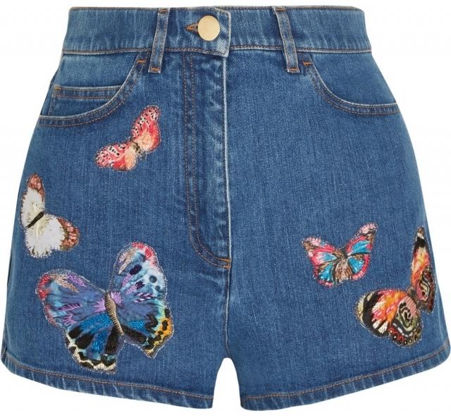 Модные джинсовые шорты лето 2016 Джинсовые шорты с вышивкой
