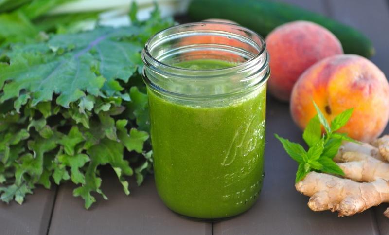 зеленый коктейль.рецепт для вывода токсинов из организма